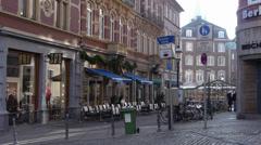 Aachen, Germany Street Shoppers Stock Footage