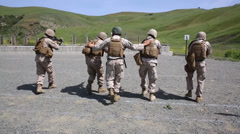 Stock Video Footage of Combat Engineers Refresh combat rifle drills