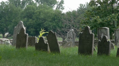 An Old Graveyard in Lancaster Pennsylvania - stock footage
