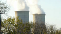 Nuclear Power Towers Three Mile Island - stock footage