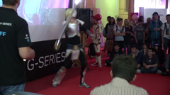 Costume contest, European Comic Con, Janna fantasy character, Cosplay, LOL - stock footage