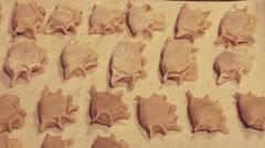 Homemade dumplings Stock Footage