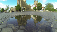 2k - Germany - Thuringia - Erfurt Cathedral Stock Footage