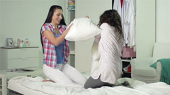 Pillow Fight Stock Footage