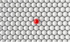 Stock Illustration of Standing Out From The Crowd 3D Sphere
