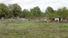 Serbia,2014.Floods. Environmental disaster. Flood destroyed house. Medium shot. Stock Footage