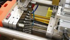 Factory Injection Mold - 2 Shots Stock Footage