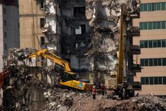 Building Demolition in Beijing - stock photo