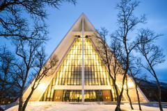 Arctic Cathedral - stock photo