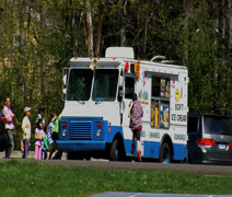 the ice cream truck - stock footage