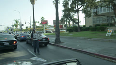 Homeless Man in Hollywood Poverty Los Angeles California LA  Stock Footage
