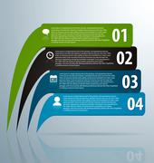 Infographic banners with icons and number Stock Illustration