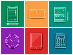 Business work elements Stock Illustration