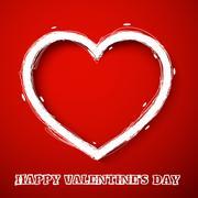 valentines day draw heart - stock illustration
