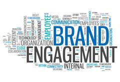 """Stock Illustration of word cloud """"brand engagement"""""""