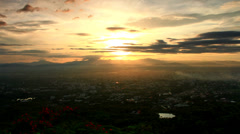 Stock Video Footage of Chiang Mai View Piont Sun Rise 2.1 Move Cam and Faster