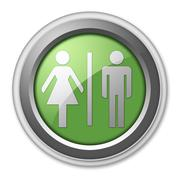 Stock Illustration of icon, button, pictogram restrooms
