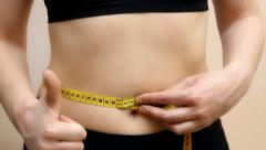 Waist circumference Stock Footage