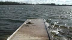 Wood Floating Dock Stock Footage