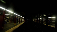 TRAIN Exiting 34th Street Stock Footage