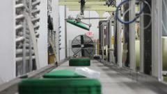 Robotic Arms and Conveyor Stock Footage