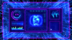 4K Futuristic technological interface background, seamless loopable. Stock Footage
