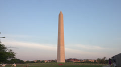 Washington Monument zoom in Stock Footage