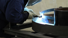 Gas Metal Arc Welding - stock footage