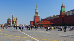 4K+ Red Square, Moscow Kremlin and Historical Museum. Stock Footage