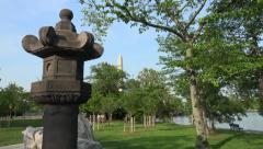 Japanese Stone lantern, Washington, DC 4k Stock Footage