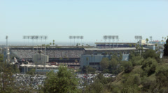 2.5K Los Angeles Dodgers Stadium Day Game Wide Stock Footage