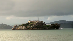 Alcatraz Island Federal Penitentiary. San Francisco, California, USA. Stock Footage