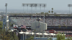 2.5K Los Angeles Dodgers Stadium Day Game CU Stock Footage