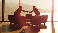 Business meeting. businessman conversation. handshake. man male person people Stock Footage