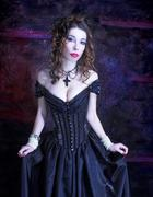 Victorian lady. - stock photo