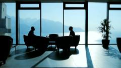 businessman discussion. business meeting. client. handshake. luxury interior - stock footage