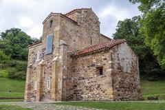 San Miguel de Lillo in Oviedo Stock Photos