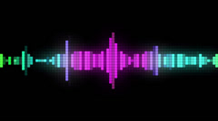 Audio spectrum pixel style Stock Footage
