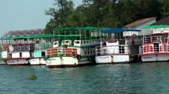 India Kerala Kochi Cochin City 038 landing stage for houseboats in backwaters - stock footage