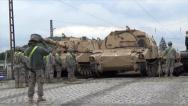 Stock Video Footage of Tank Guided into Parking