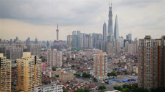 View of Urban scene in Shanghai , Shanghai,  China Stock Footage