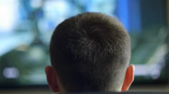 Teen Playing Games Close Up Stock Footage