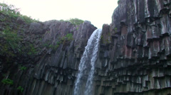 Waterfall brink and top run, rotating counterclockwise with zoom in - stock footage