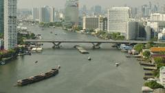 Chao Phraya River in Bangkok, Thailand Time Lapse Stock Footage