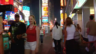 Stock Video Footage of Editorial Time Lapse of Times Square Busy Street