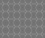 Stock Illustration of black and white hexagon tiles pattern repeat background