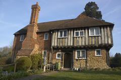 Tudor house - stock photo