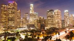 Downtown Los Angeles Hyperlapse Stock Footage
