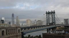 Manhattan Bridge Time Lapse 2 Stock Footage