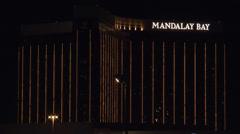 Mandalay Bay Hotel Night 4K Stock Footage